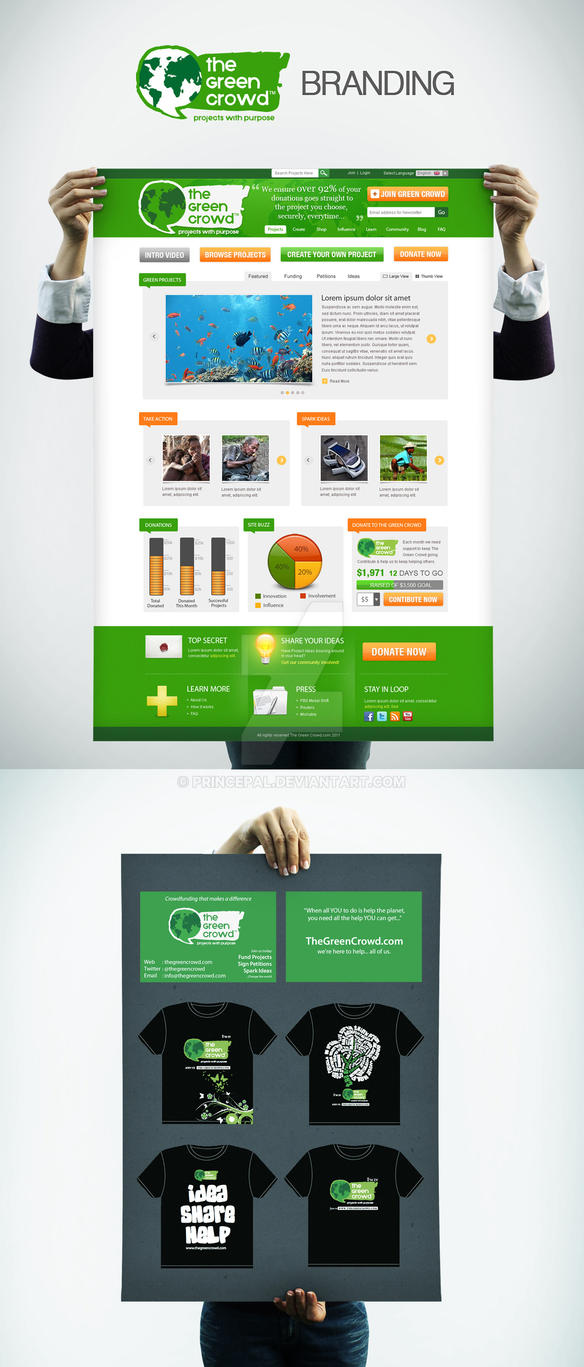 TheGreenCrowd Community.Petition.Idea.Branding by princepal
