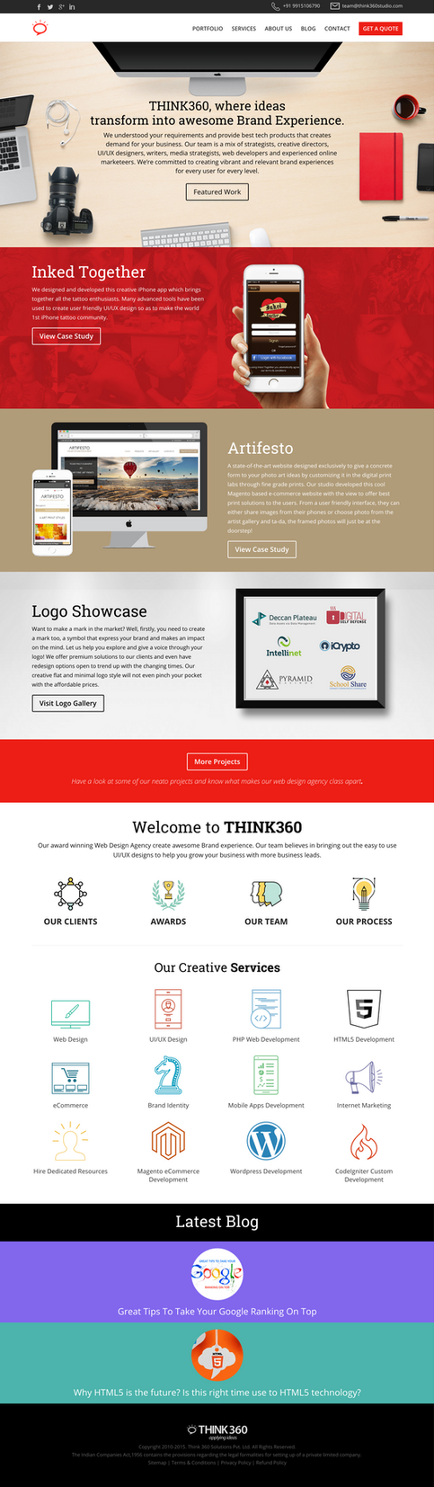 Think360Studio A UI/UX and Web Design Agency India by princepal