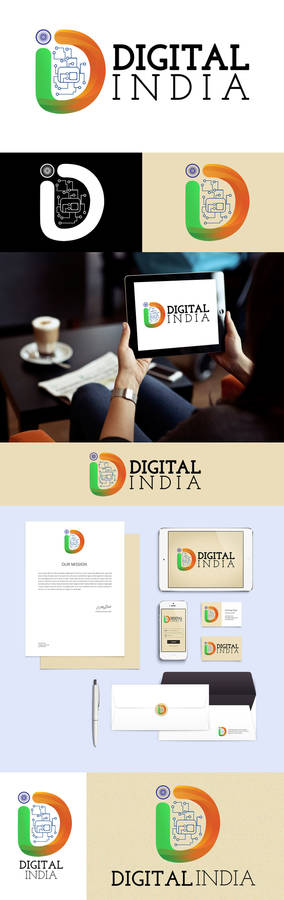 Digital India Logo Concept #1 By Prince Pal