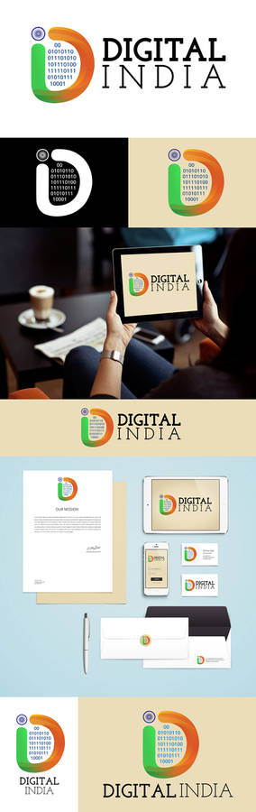 Digital India Logo Concept #2 By Prince Pal