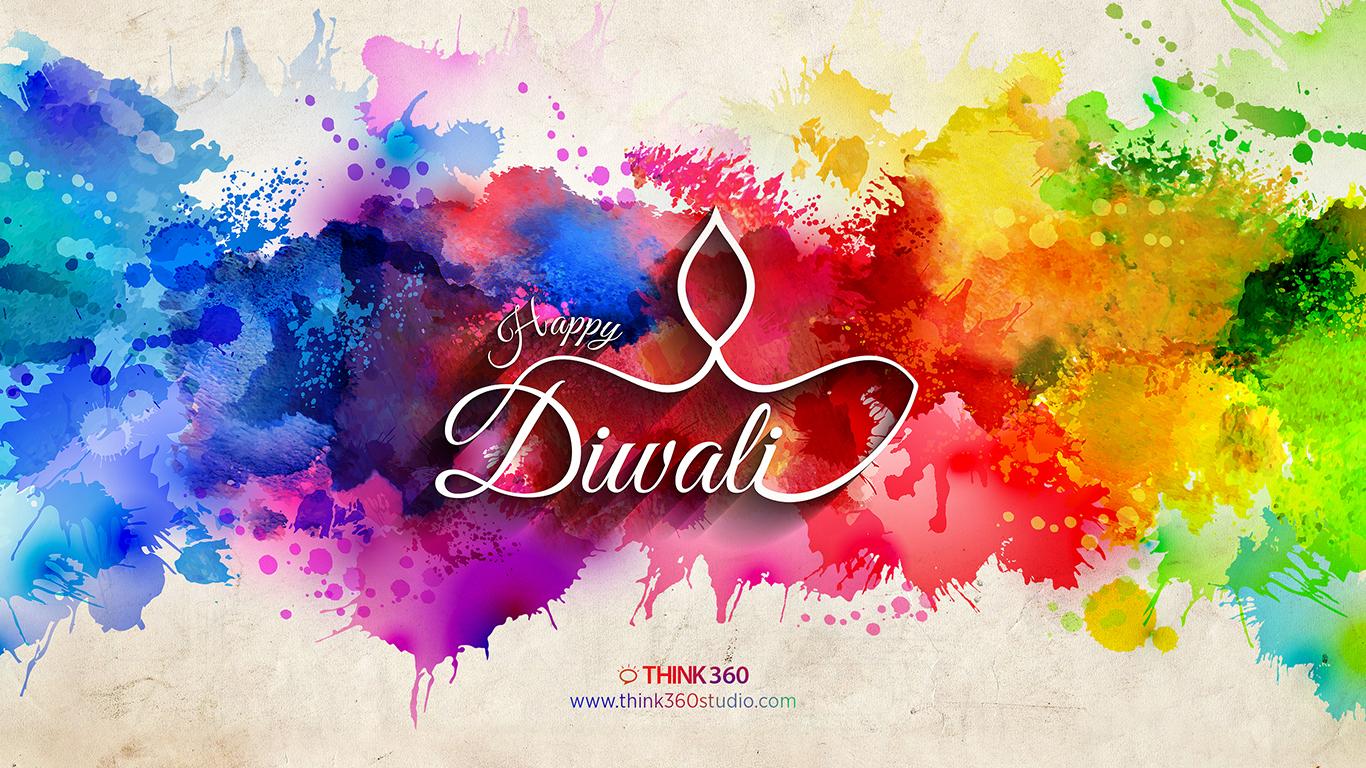 Happy Diwali Colorful Wallpaper 2014 By Prince Pal