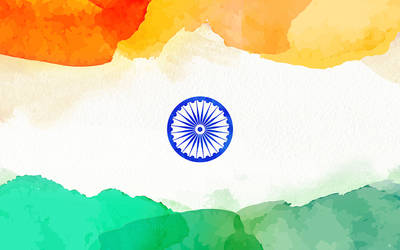 Water Color Indian Flag Wallpaper By Prince Pal