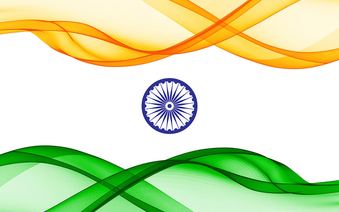 Wavy Indian Flag Wallpaper By Prince Pal by princepal