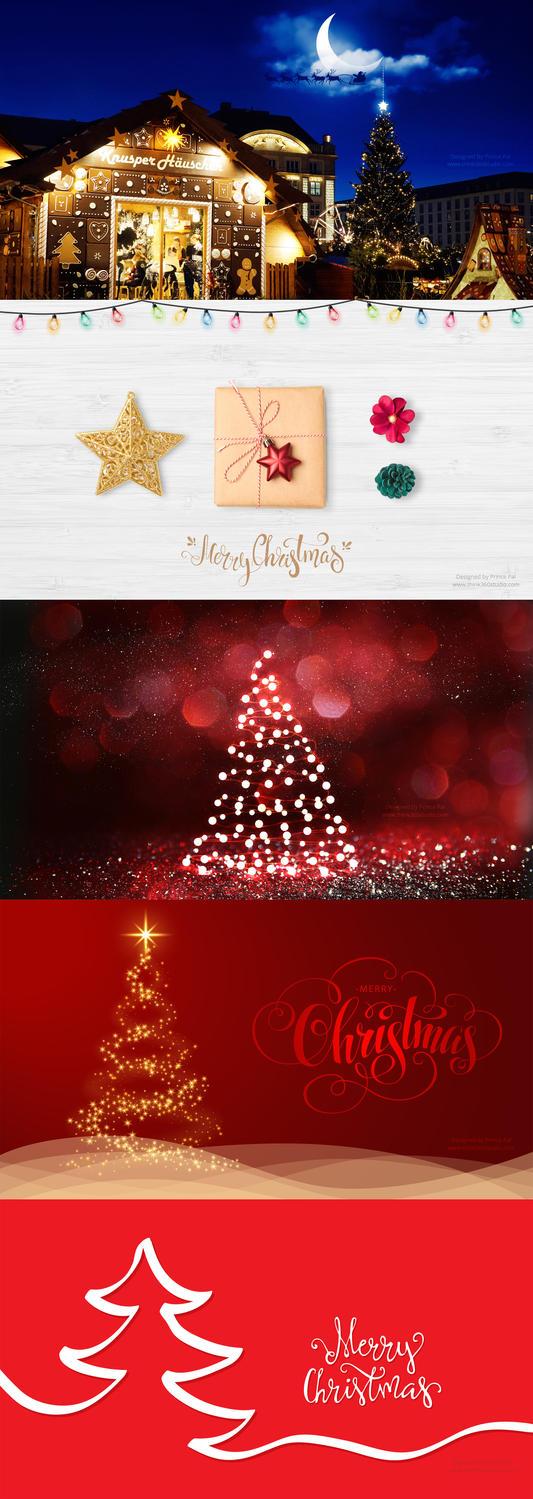 5 Christmas Wallpapers 2017 by princepal