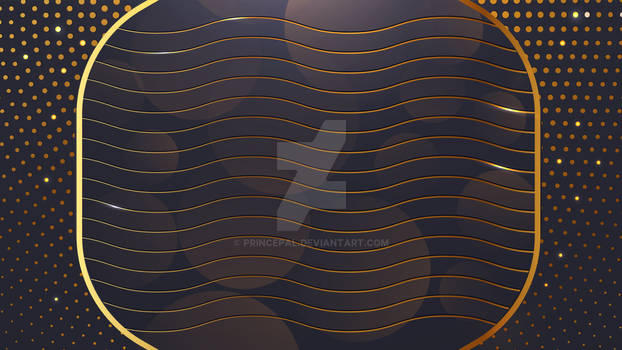 Abstract Golden Waves