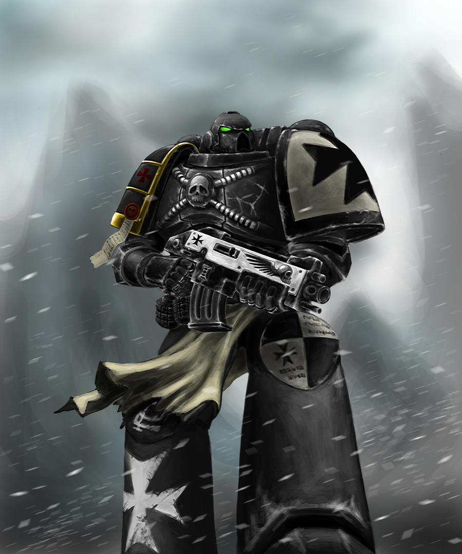 Warhammer 40k Black Templar by CELENG