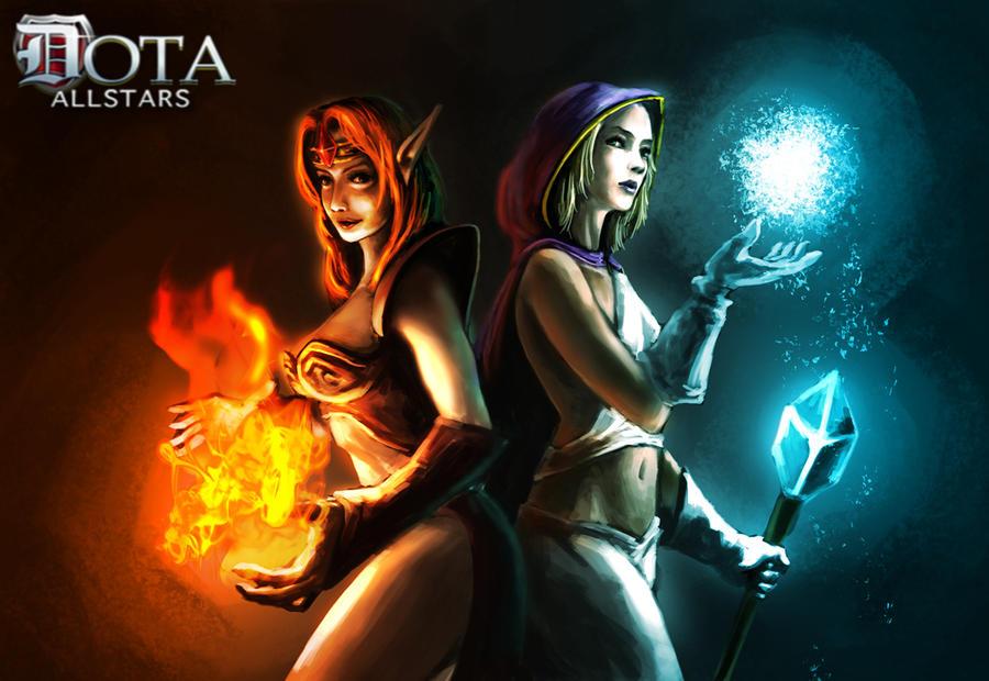 mage video games fire phoenix deviantart lina inverse dota artwork ...