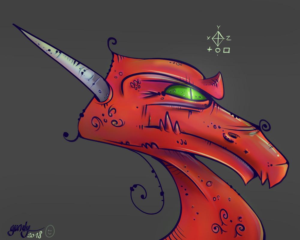Dragon Rouge by RomualdDub