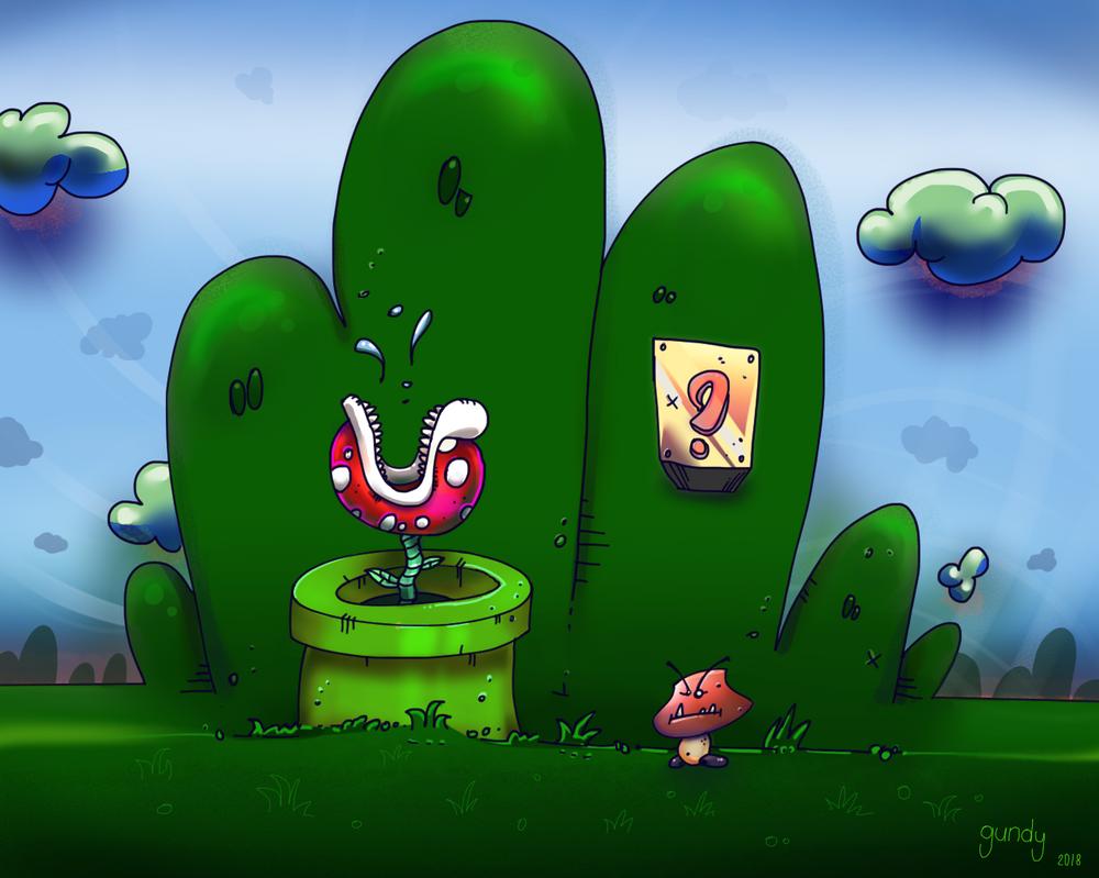 Mario Landscape by RomualdDub