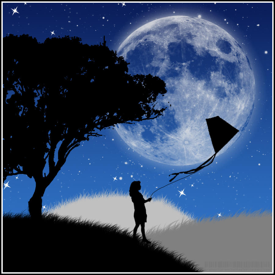 Tale of the kite in the night by grenouille enchantee