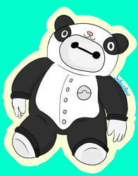 Baymax in a panda onesie by Smilecentaur