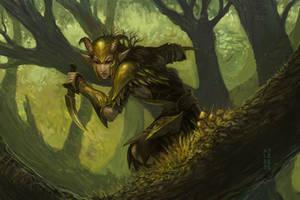Elf token (renewed) by Eyari