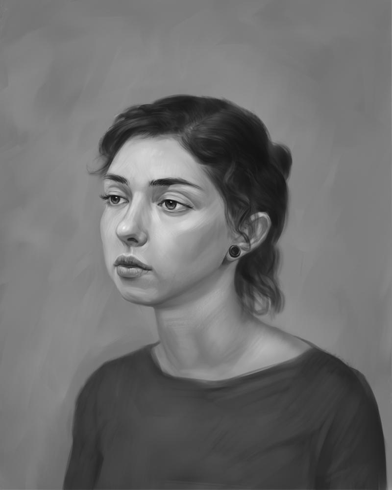 Alexandra portrait by AndreyRudenko