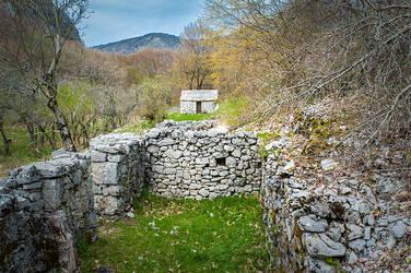 Slavs old village