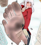 Giantess Modeus city rampage