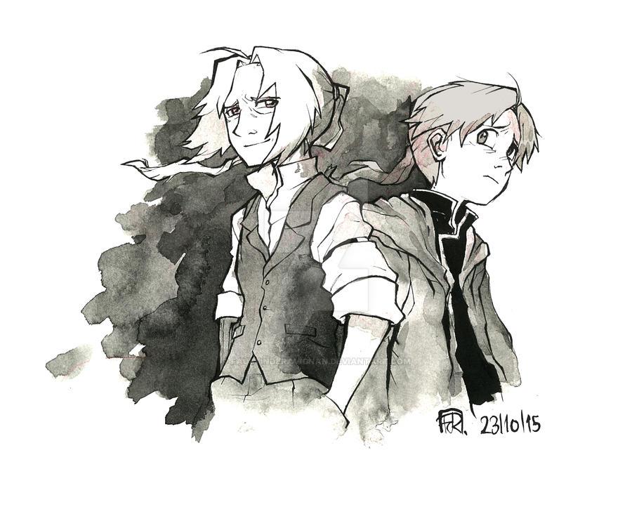 Inktober 23: Brothers by FaustindeRavignan