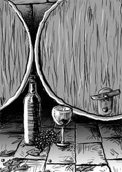 Wine Illustration by captain-amazing
