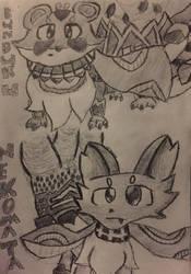 Majespecter Racoon and Majespecter Cat Handrawn