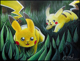 playful pikachu practice by JozJaeger