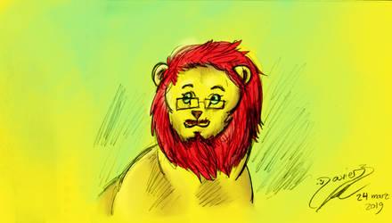 Lion Javier L - be happy by SuperColoroid