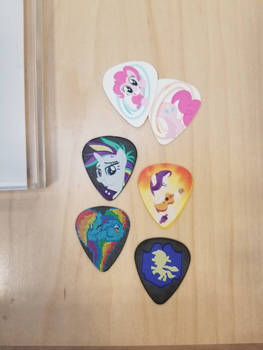 My Little Pony guitar picks by tjpeters1010