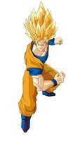 Goku Super Saiyan by GamerZzon
