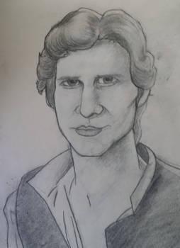 Han Solo Sorta Caricature