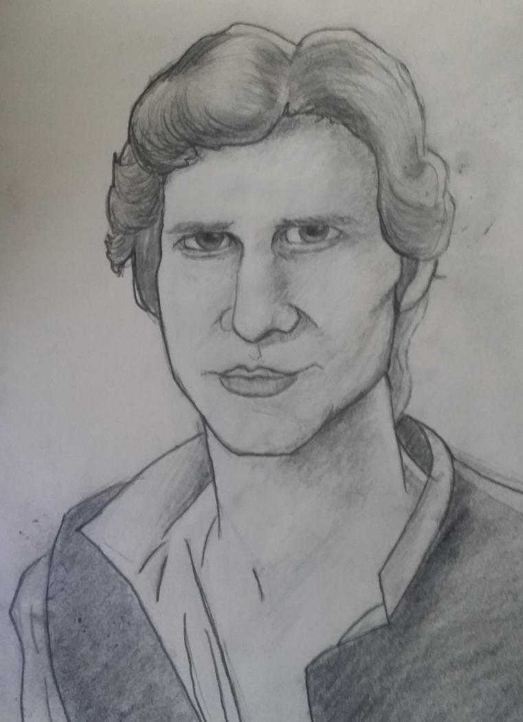 Han Solo Sorta Caricature by GamerZzon