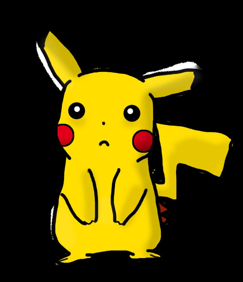 sad pikachu drawing