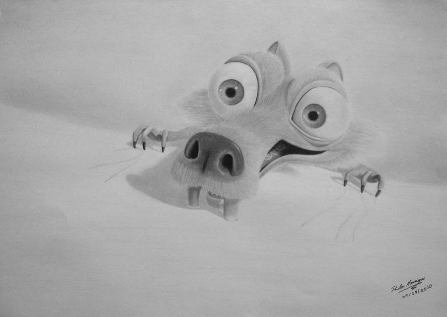 Scrat Ice Age Drawing ...
