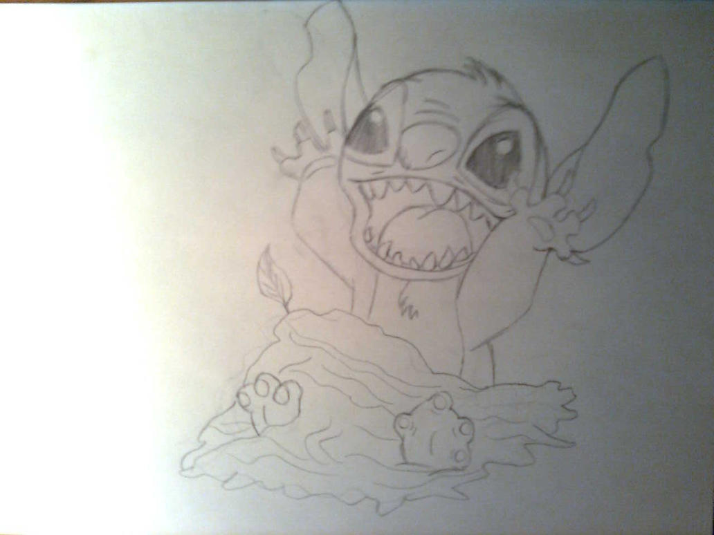 Cute Drawings of Stitch Stitch Pencil Drawing Version