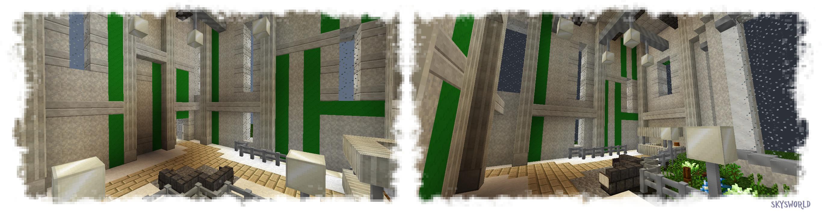 Minecraft office first floor interior by skysworld on deviantart - Minecraft office interior ...