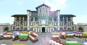 Minecraft Roman Plaza by skysworld