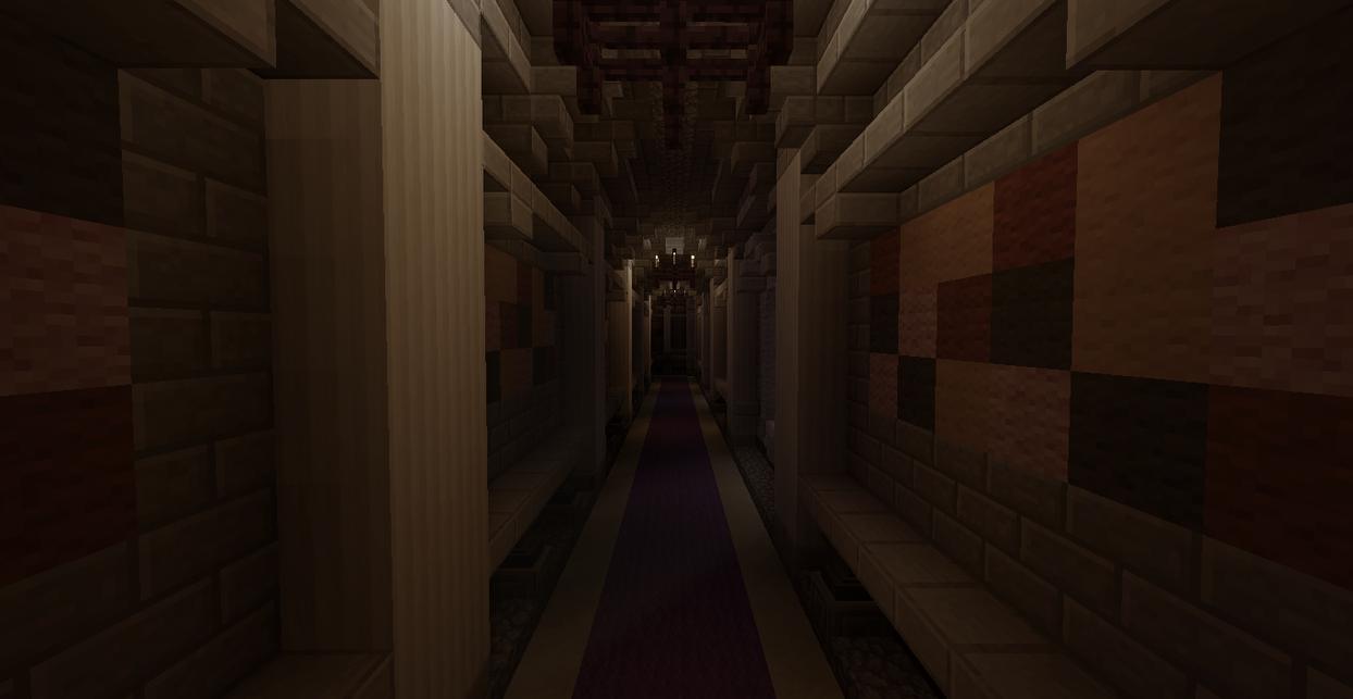 Minecraft Foyer Ideas : Kings castle hallway minecraft by skysworld on deviantart