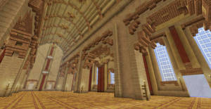Romanesque Cathedral Interior