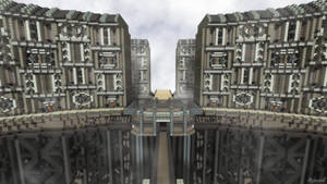 Minecraft Cityscape by skysworld