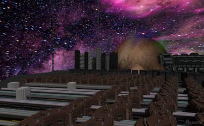SpaceCity by skysworld