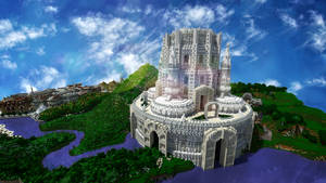 Minecraft White Castle Tower by skysworld