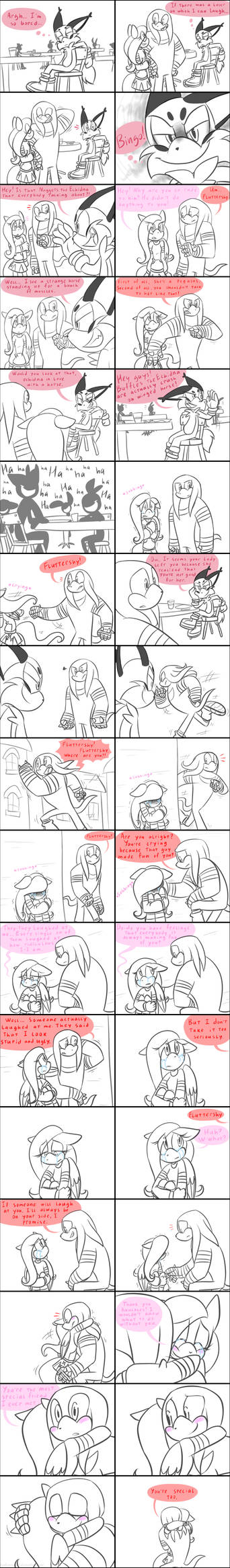 Knuckles and Fluttershy: You're not alone