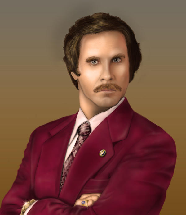 Ron Burgundy - Digital Art by D-B-Dot-Com