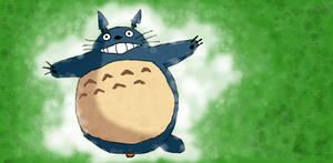 Totoro with Muro by Kanuka76