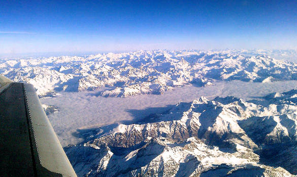 Aosta Valley by airplane