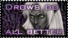 Drow stamp by Kanuka76