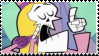 Gaobam: Lady Grim Stamp by MammaCarnage