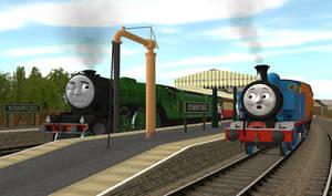 Thomas Meets The Scotsman by FizzledFirebox