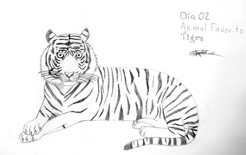 Mi animal favorito el Tigre by sandraPnFfan