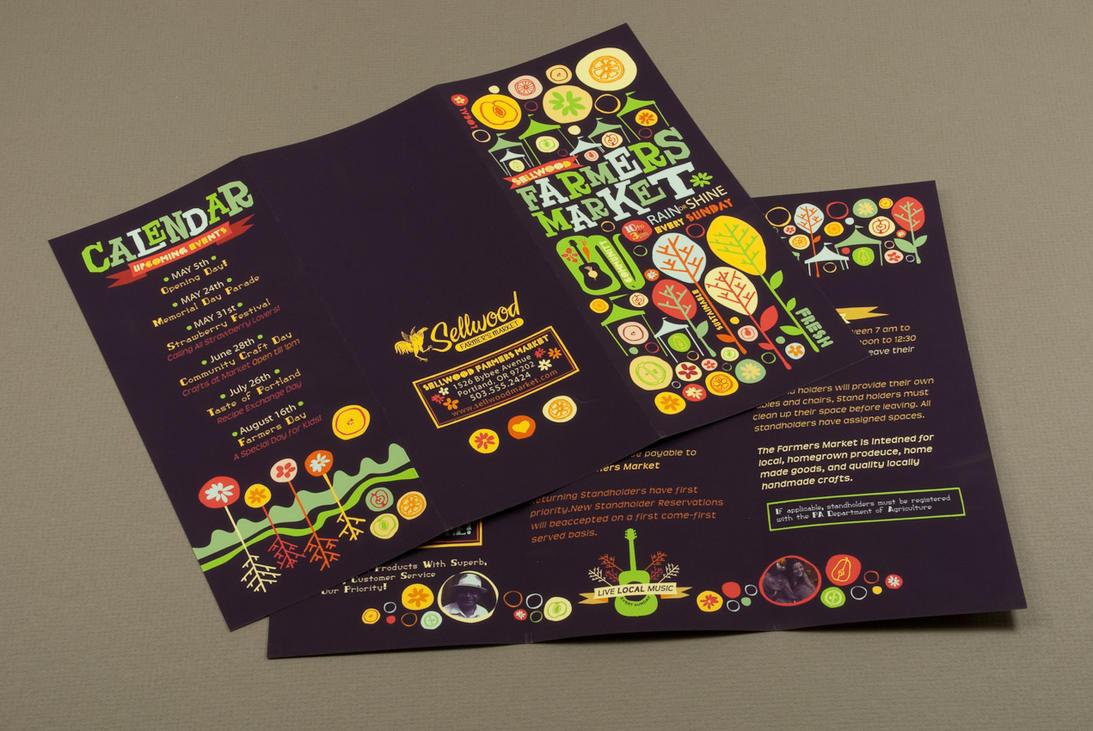 Farmers Market Brochure by inkddesign