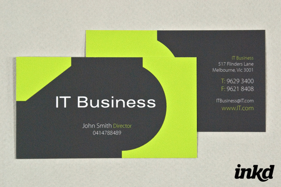 IT Business Card Template