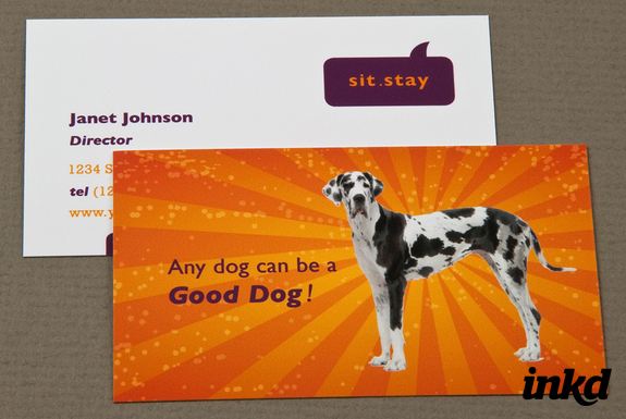 Dog trainer business card by inkddesign on deviantart dog trainer business card by inkddesign reheart Images