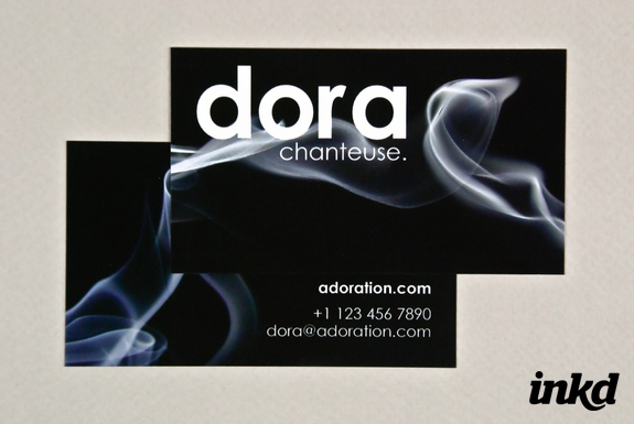 Black Business Card with Smoke by ~inkddesign